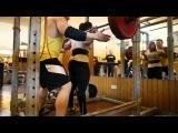 Gunel Talybova Squat 125 kg x 8 reps (18.05.2015)