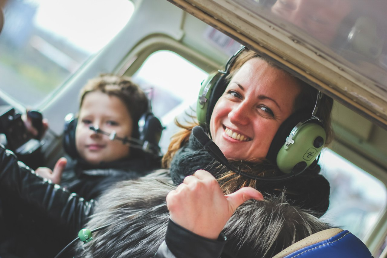 Полеты с детьми от 7 лет