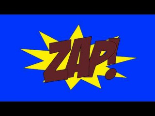 Comic Book Zap - Free Animation Footage Green Screen