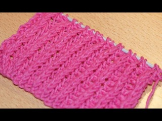 Вязание спицами. Схема вязания английской резинки / / Knitting. The scheme of knitting British gum.