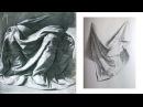 Как РИСОВАТЬ ДРАПИРОВКУ карандашом / Учимся Рисовать Складки Ткани. 1 Часть
