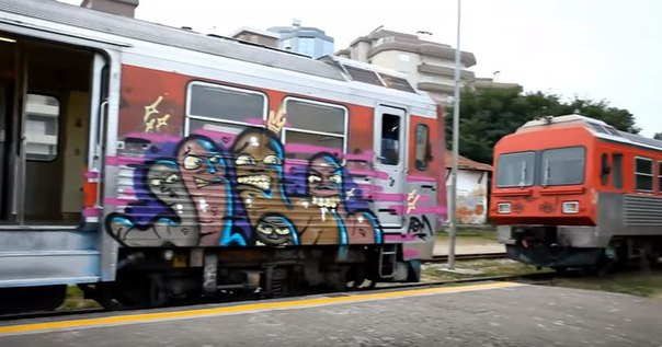 graffiti train portugal