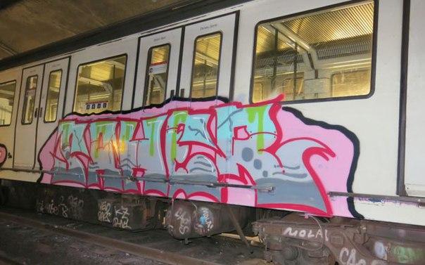 barcelona trainwriting
