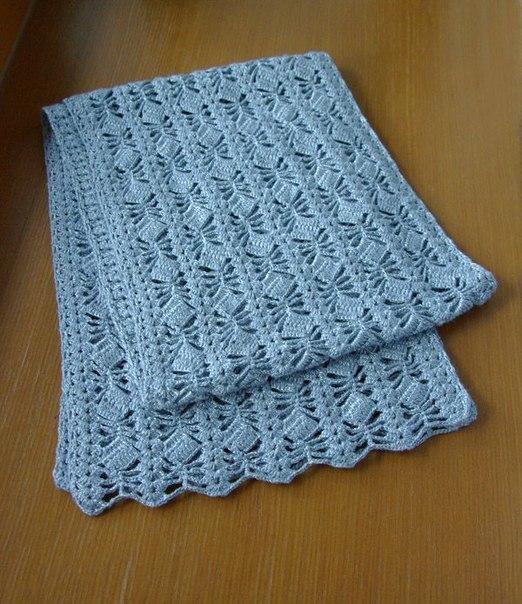 Ideas para el hogar: Patròn de bufanda en punto fantasìa