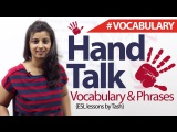 Hand Talk English Phrases and Vocabulary related to hand ( English lesson)