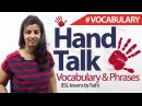Hand Talk English Phrases and Vocabulary related to hand English lesson