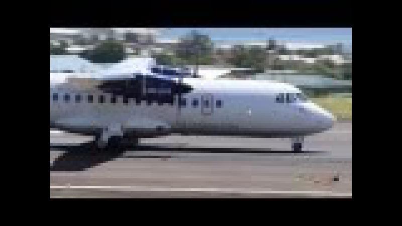 Turboprop Action ! Short 360, ATR 72-600, ATR 42-600, Dash 8-300, Saab 340 @ St Kitts !