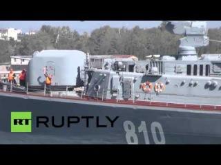 Россия: Сметливый корабль покидает Севастополь, чтобы принять участие в греческой