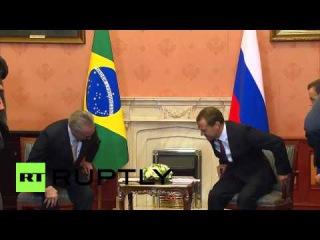 Встреча Д. Медведева и вице-президента Бразилии. Без комментариев