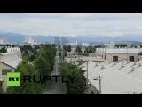 Япония: Армия США базы на блокировку после взрывов рок военного строительства.