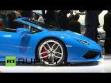 Германия: Lamborghini представляет новый Huracan Spyder в автосалоне во Франкфурте.