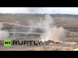 Россия: Апокалипсис сегодня не имеет ничего на этих яростных Русско-Белорусских военных учений.
