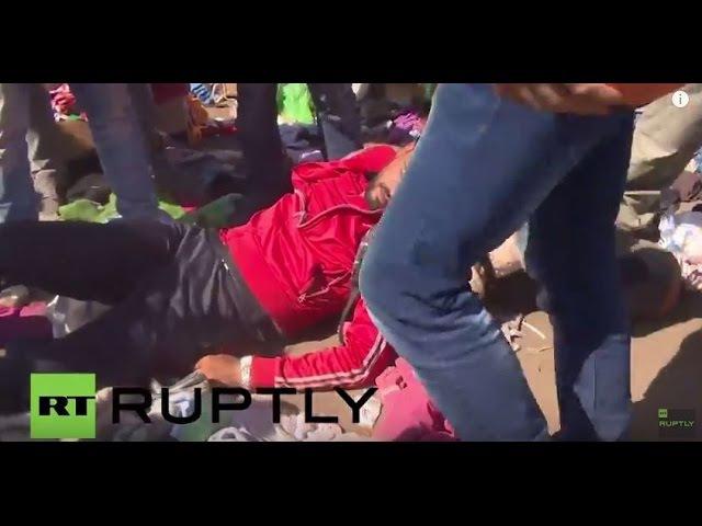 Венгрия: Полиция драка с беженцами в лагере возле временного Рьоске, один ранен.
