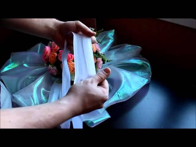 Украшение на свадебную машину своими руками.