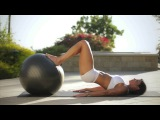 Exercise Ball Workout for Beginners - Abs Workout - Glute Workout