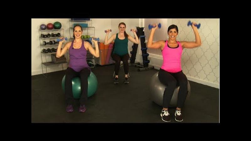 10-минутная тренировка рук, безопасная для беременных. 10-Minute Arm Workout, Safe for Pregnancy, Class FitSugar