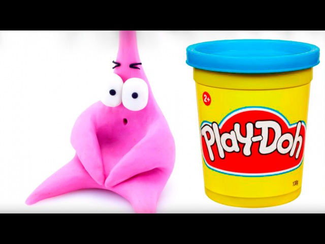 Spongebob Patrick Play doh STOP MOTION playdo video Bob Esponja Stopmotion