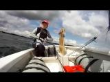 GоPrо НD Оptimist Sailing - Работа с парусом и выполнение поворотов на швертботе