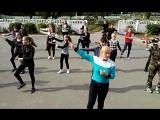 Флешмоб на день Учителя в Новогутской школе