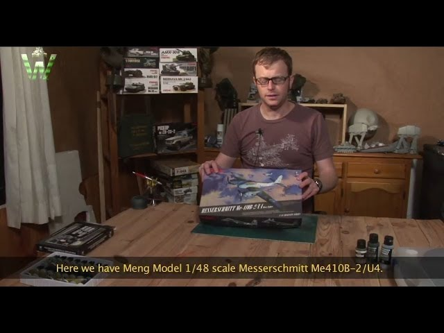 MENG LS-001 1/48 Messerschmitt Me410B-2/U4 Heavy Fighter Model Kit Building Guidance Video