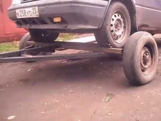 самодельный прицеп для перевозки машины