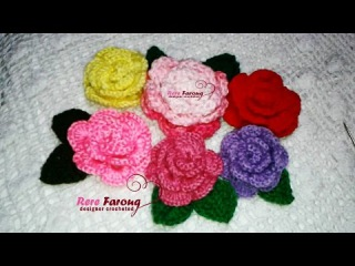 كروشيه الورده الملفوفه (المجسمه ) Crochet Flower 3D