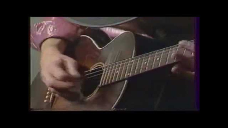 Stevie Ray Vaughan. Rare accoustic guitar solo, Houba houba. 1983