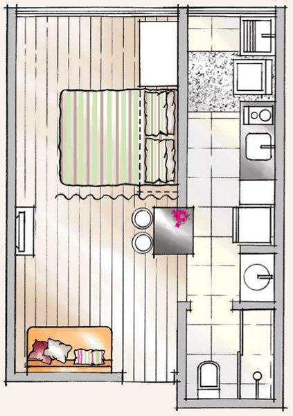 Интерьер квартиры 30 м.