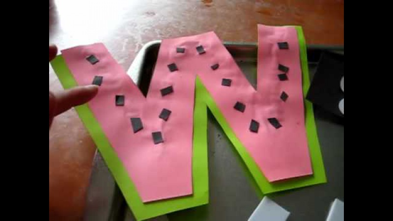 Toddler - Reading, Arts and Crafts activity Alphabet letter for the day activities.