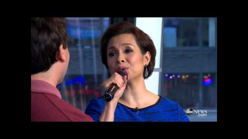 Lea Salonga and Brad Kane perform A Whole New World on Good Morning America
