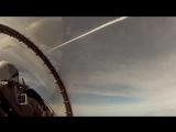 F-16C запускает ракету воздух-воздух AIM-120 AMRAAM