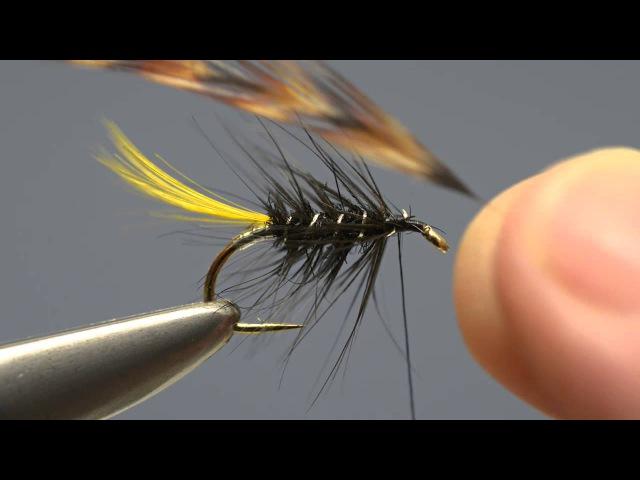 Renowned fly dresser Peter Gathercole ties Arthur Macdonald's Chartreuse Kate Muddler