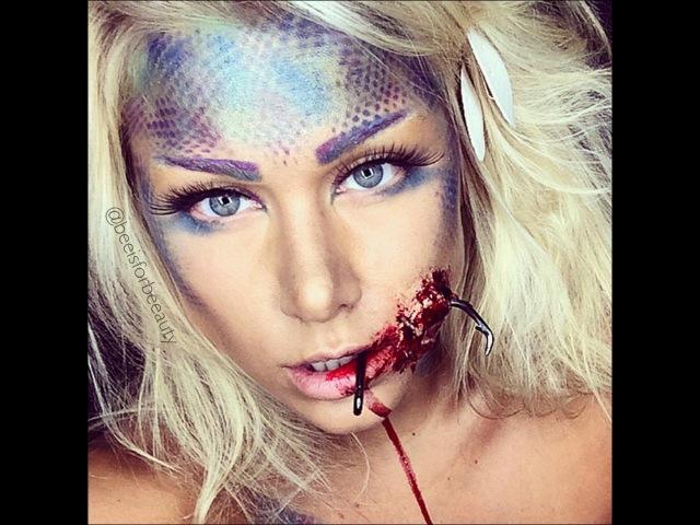 Hooked mermaid sfx ariel halloween makeup tutorial | BeeisforBeeauty
