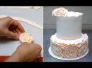 Simple Rose Ruffle Wedding CAKE - HOW TO by CakesStepbyStep