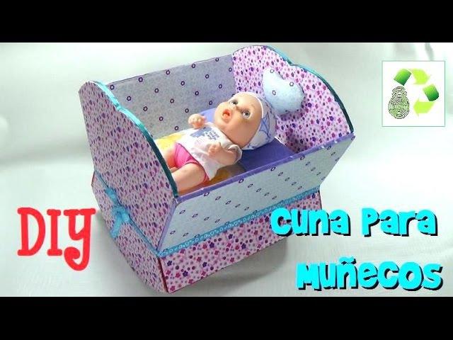 157. DIY Cuna para muñecas (Reciclaje) Ecobrisa.