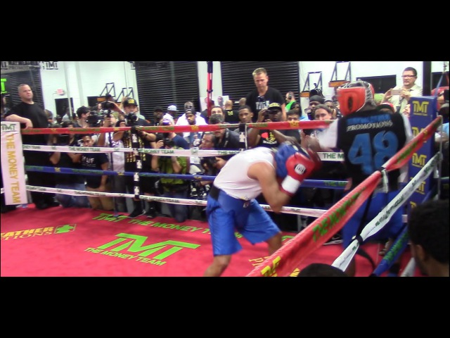 FLOYD MAYWEATHER DESTROYS SPARRING PARTNERS 82615 HoopJab Mayweather vs Mcgregor