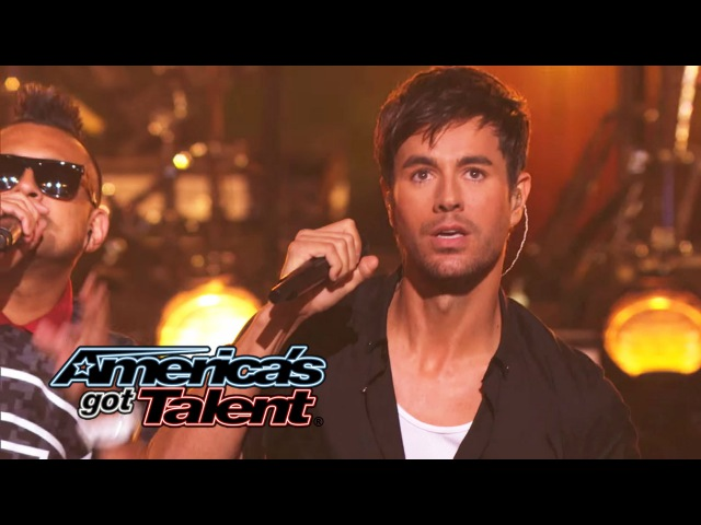 Enrique Iglesias and Sean Paul Get the Crowd Going With Bailando - Americas Got Talent 2014