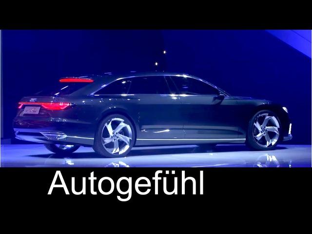 Audi A9 Prologue Avant presentation Q7 e-tron, R8 V10, R8 e-tron, R8 LMS at Geneva - Autogefühl