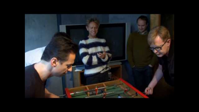 Depeche Mode playing table football 1