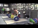 Jessica Lucero (58kg) Clean &amp Jerk Waves, Front Squats