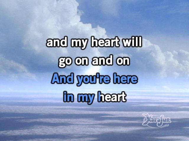 Celine Dion - My Heart Will Go On (karaoke)