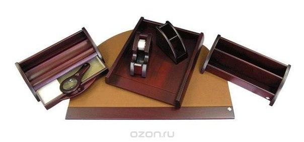 Набор настольный , коллекция empereur (07 предметов), натуральное дерево орех красно-коричневого цвета, Protege
