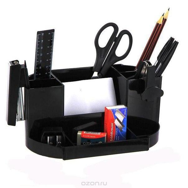 """Набор настольный """"виктория"""", цвет: черный, 15 предметов, Erich Krause"""