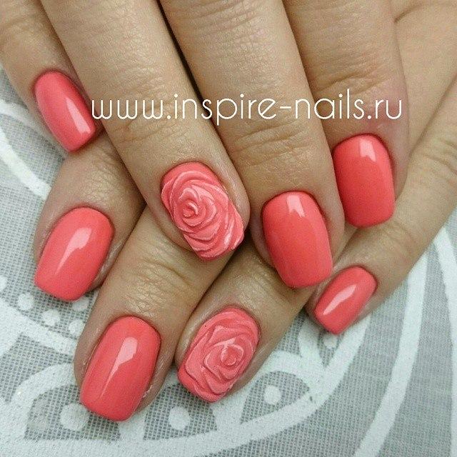 Фото дизайна ногтей с розами