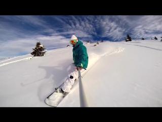The Art of Ride - Snowboarding Off Piste Backcountry - DJI Phantom Xiaomi Yi Action Camera