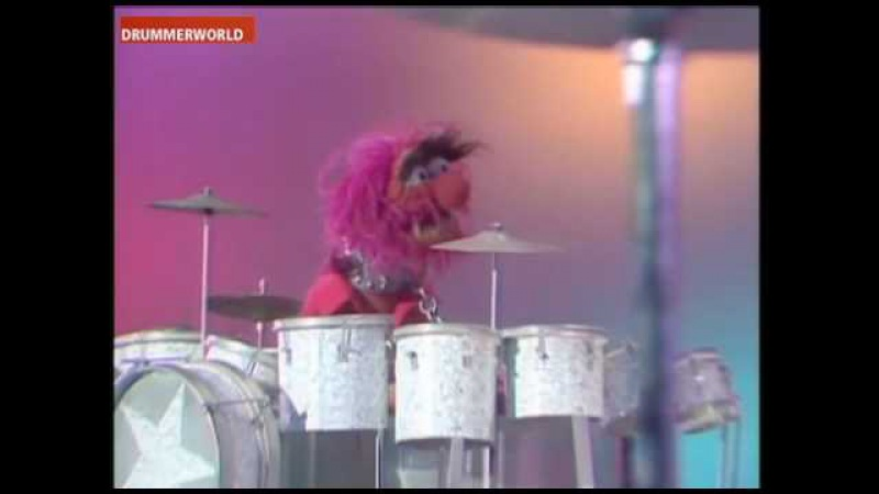 Drum Battle with Buddy Rich on Muppet Show