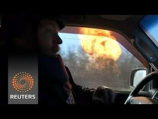 Gas pipeline blast caught on video, hit by shell in eastern Ukraine
