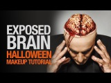 Exposed brain halloween makeup tutorial