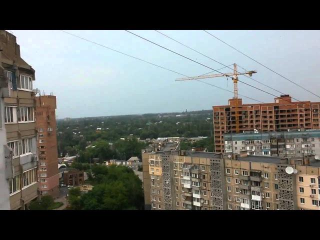 Танковый снаряд пролетел перед камерой Донецк 21 07 2015
