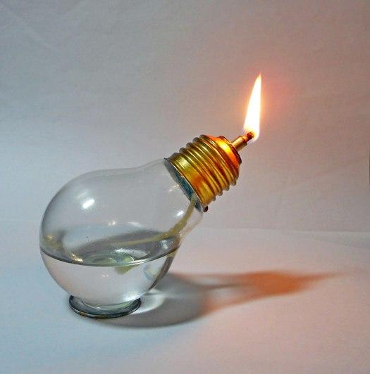 Как сделать спиртовку из лампочек